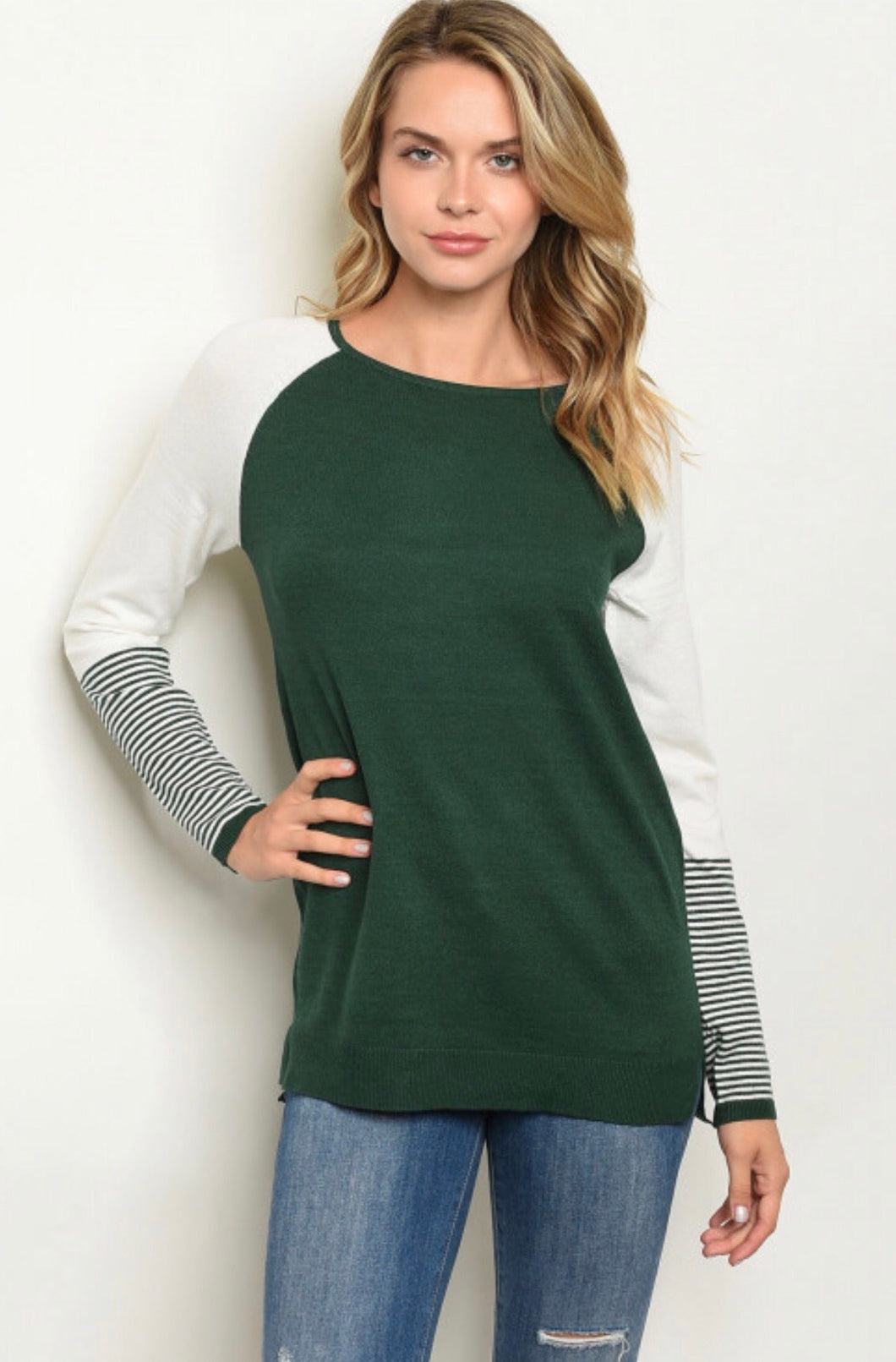 Into The Woods Sweater - Green - Latitudes Boutique
