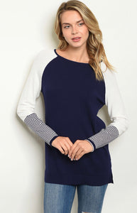Into the Woods Sweater - Navy - Latitudes Boutique