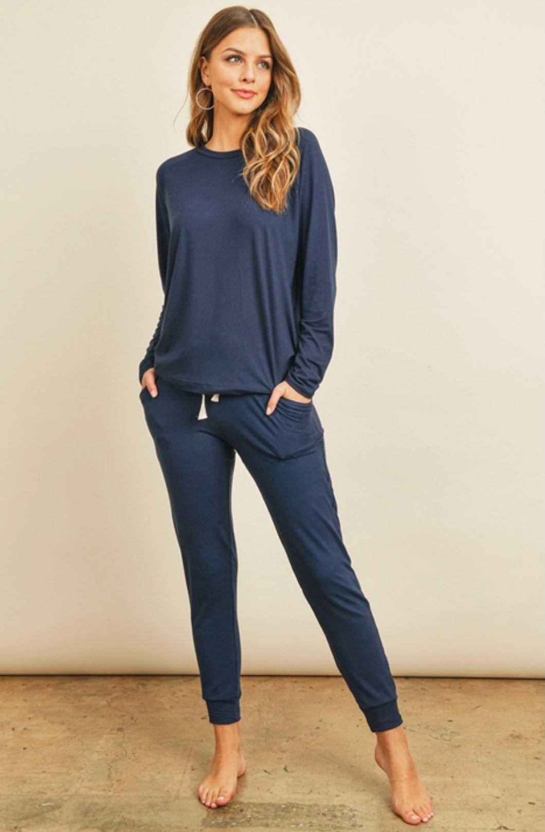 The Kaylee Jogger Set - Navy