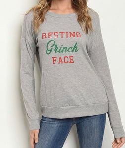 Resting Grinch Face - Sweater - Latitudes Boutique
