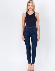 The Kendal Bodysuit - Navy