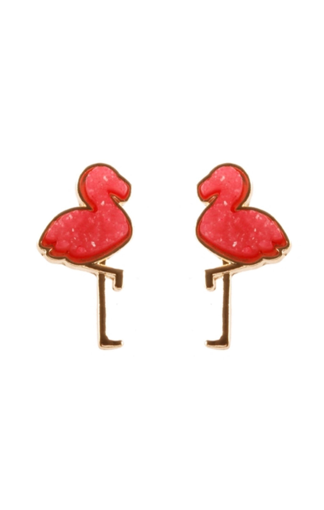 The Flamingo Stud Earring - Hot Pink