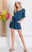 Load image into Gallery viewer, Easy Breezy - Navy Romper - Latitudes Boutique