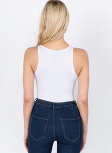 The Kendal Bodysuit - White