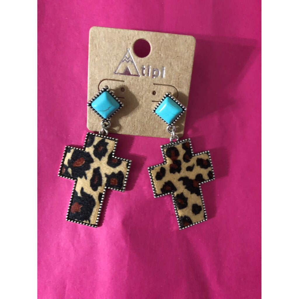 """Cross My Spots"" Earring - Latitudes Boutique"
