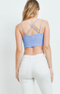 The Cora Bralette - Spring Blue