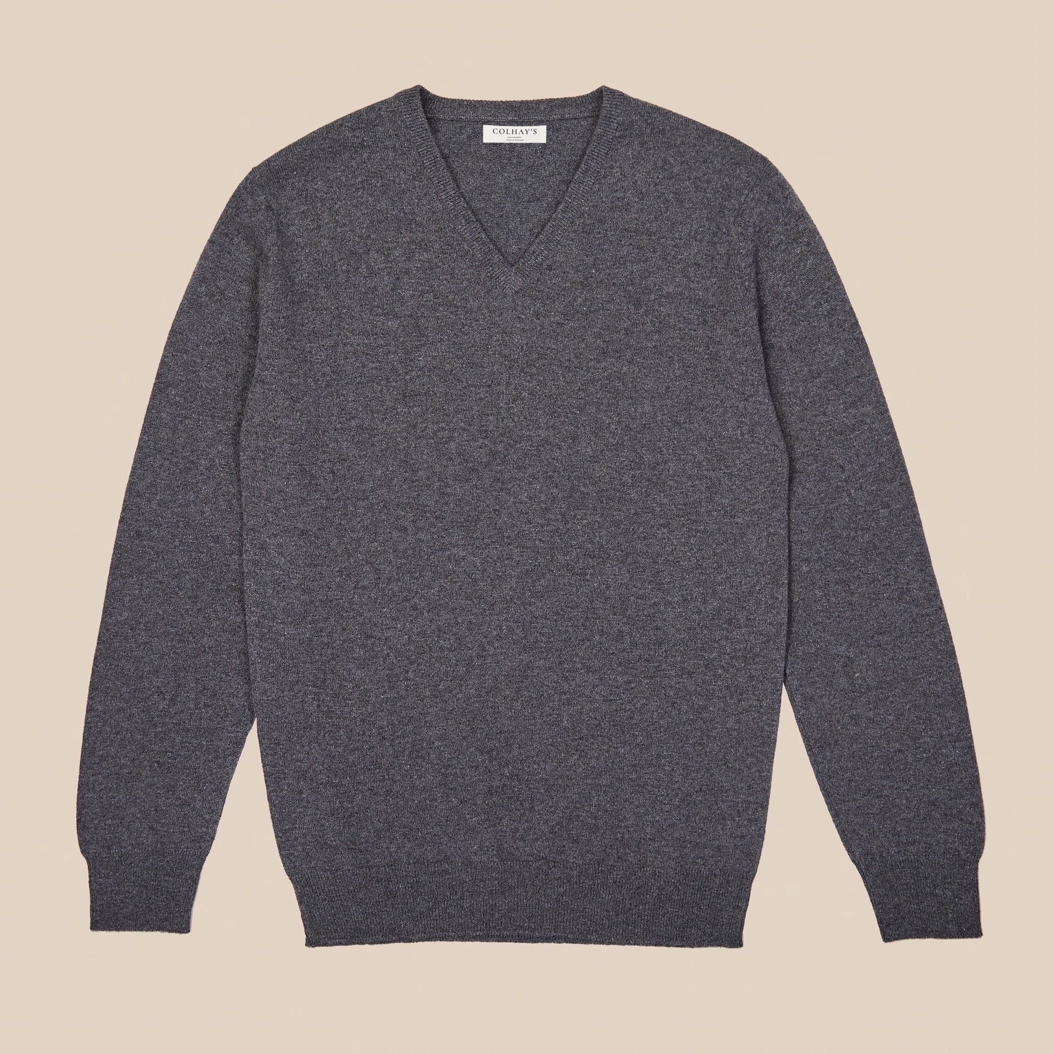 Cashmere v neck in grey