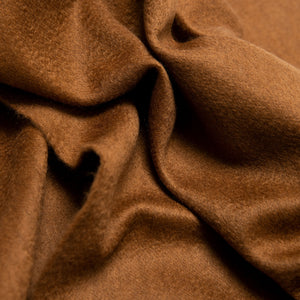 Woven cashmere scarf in saddle brown