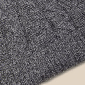 Lambswool beanie in grey