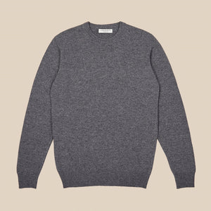 Lambswool crew neck in grey