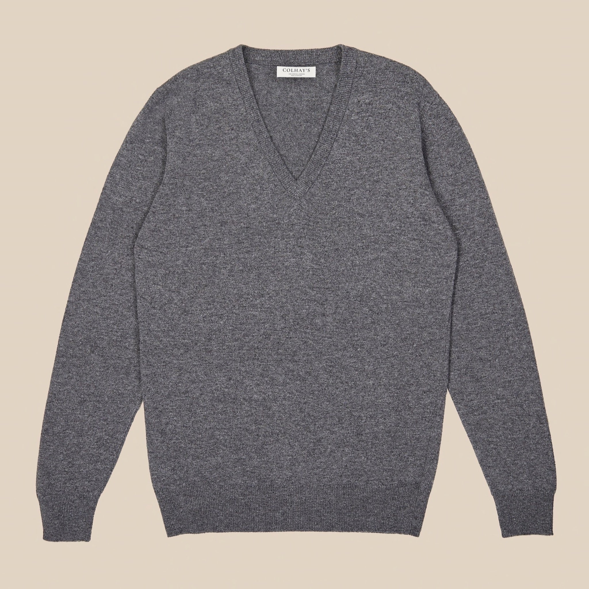 Lambswool v neck in grey