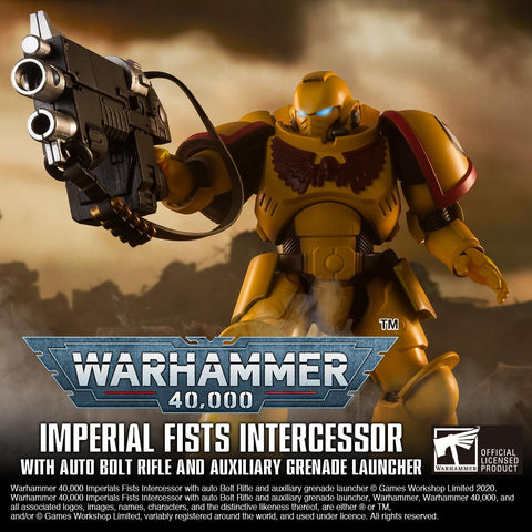 <SheetNo:32333/OrderPrice$999> Imperial Fists Intercessor With Auto Bolt Rifle And Auxiliary Grenade Launcher=Warhammer 40,000 可動figure