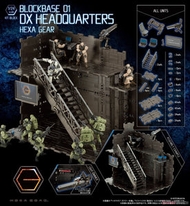 <SheetNo:20629&20630/OrderPrice$485&$540> Block Base 01 DX Headquarters=1/24 Hexa Gear Kitblock模型