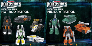<SheetNo:80808/OrderPrice$159> (2pcs)Military Patrol & Hot Rod Patrol=TF GWFC Earthrise MicroMaster