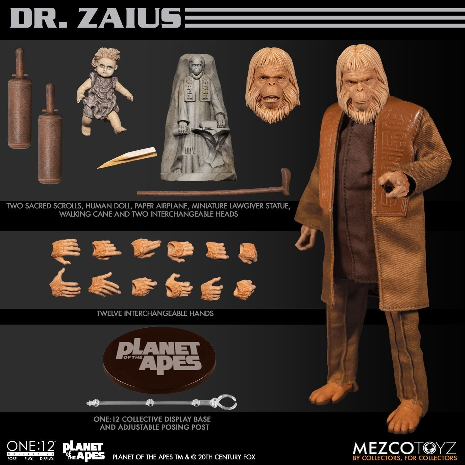 <SheetNo:20637/OrderPrice$569> 佐斯博士Dr. Zaius (Planet of the Apes 1968)=One: 12 Collective