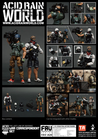 <SheetNo:81287/OrderPrice$499> FAV-A28 War Correspondent Set=Acid Rain 1/18 Action figure