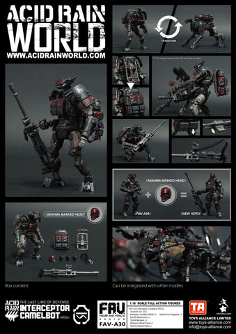 <SheetNo:81289/OrderPrice$445> FAV-A30 Interceptor Camelbot HR52e=Acid Rain 1/18 Action figure
