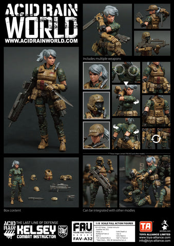 <SheetNo:81317/OrderPrice$270> FAV-A32 Kelsey Combat instructor=Acid Rain 1/18 Action figure