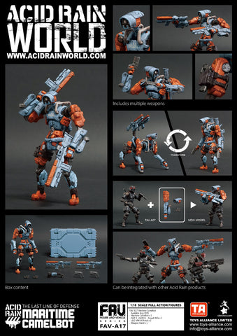 <SheetNo:81039/OrderPrice$365> FAV-A17 Maritime Camelbot=Acid Rain 1/18 Action figure