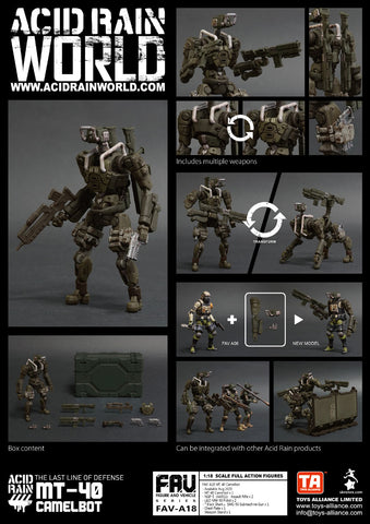 <SheetNo:81040/OrderPrice$365> FAV-A16 MT40 Camelbot=Acid Rain 1/18 Action figure