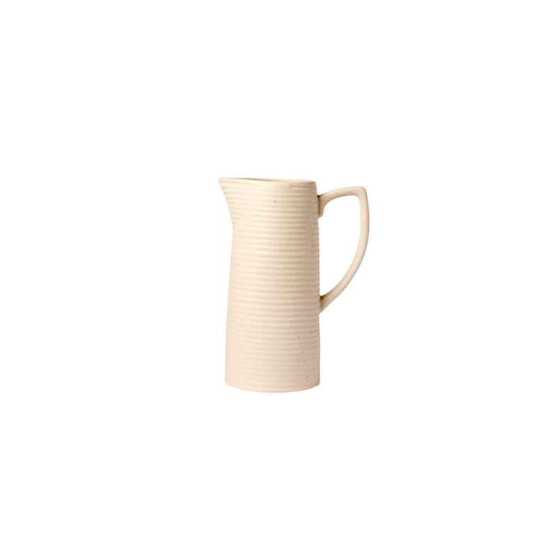 Cream Striped Pitcher