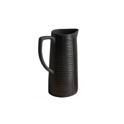 Striped Black Pitcher