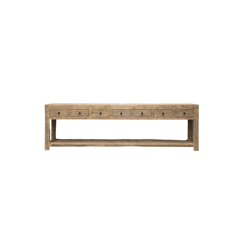 7 Drawer Console
