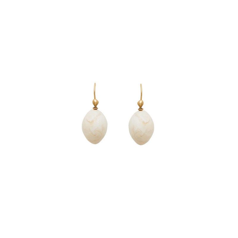 Avorio Clay Egg Earring