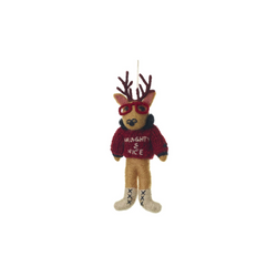 Frankie Stag Sweater Ornament