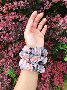 tie-dye naturally dyed scrunchie