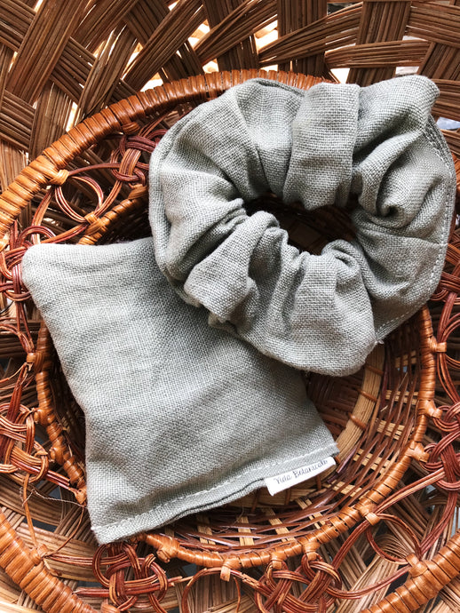 Linen Gift set in Verde Obscuro (small)