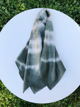 Load image into Gallery viewer, Silk Scarf in Verde Shibori