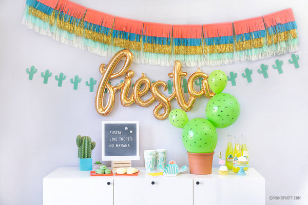 Cactus Balloon Decoration DIY