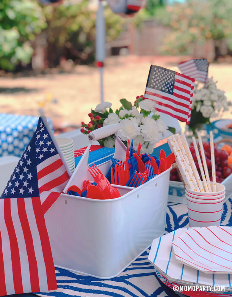 4th-of-July_Party-Ideas_Themed Tableware by Momo Party