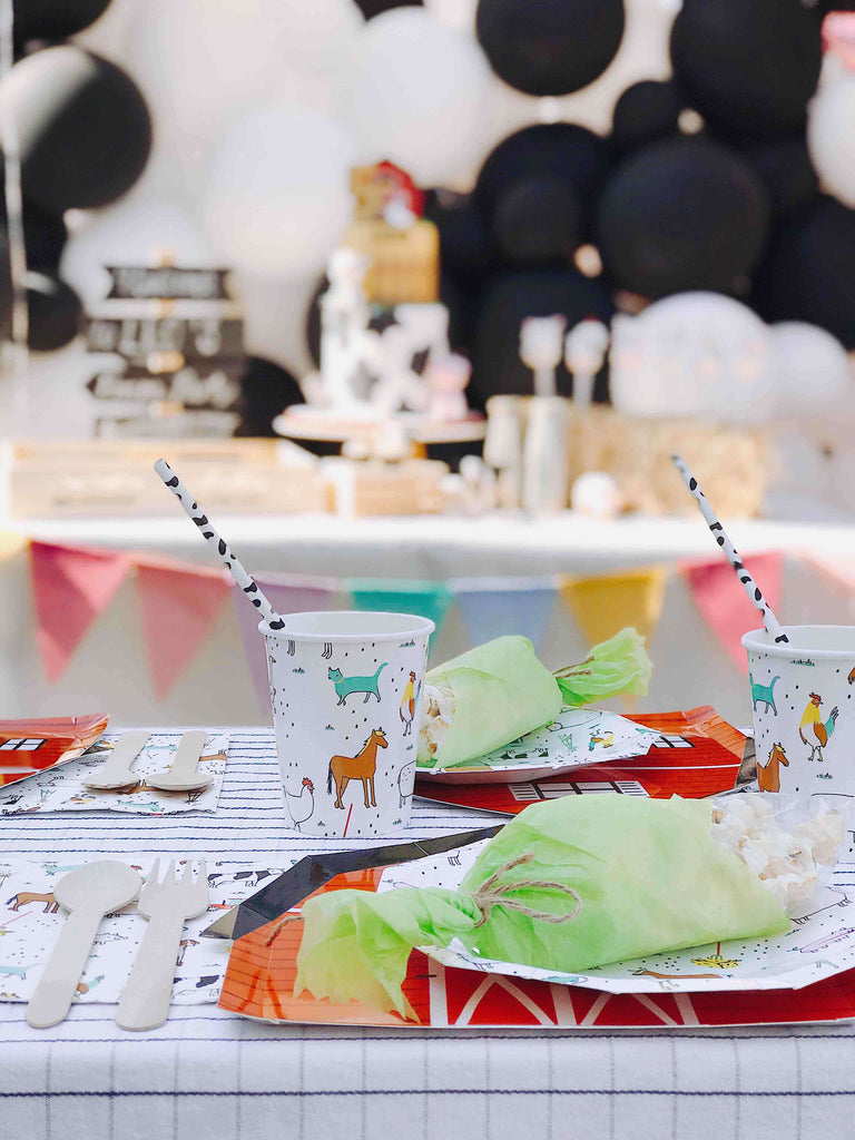 Farm Birthday Party Kids Tablescape Ideas