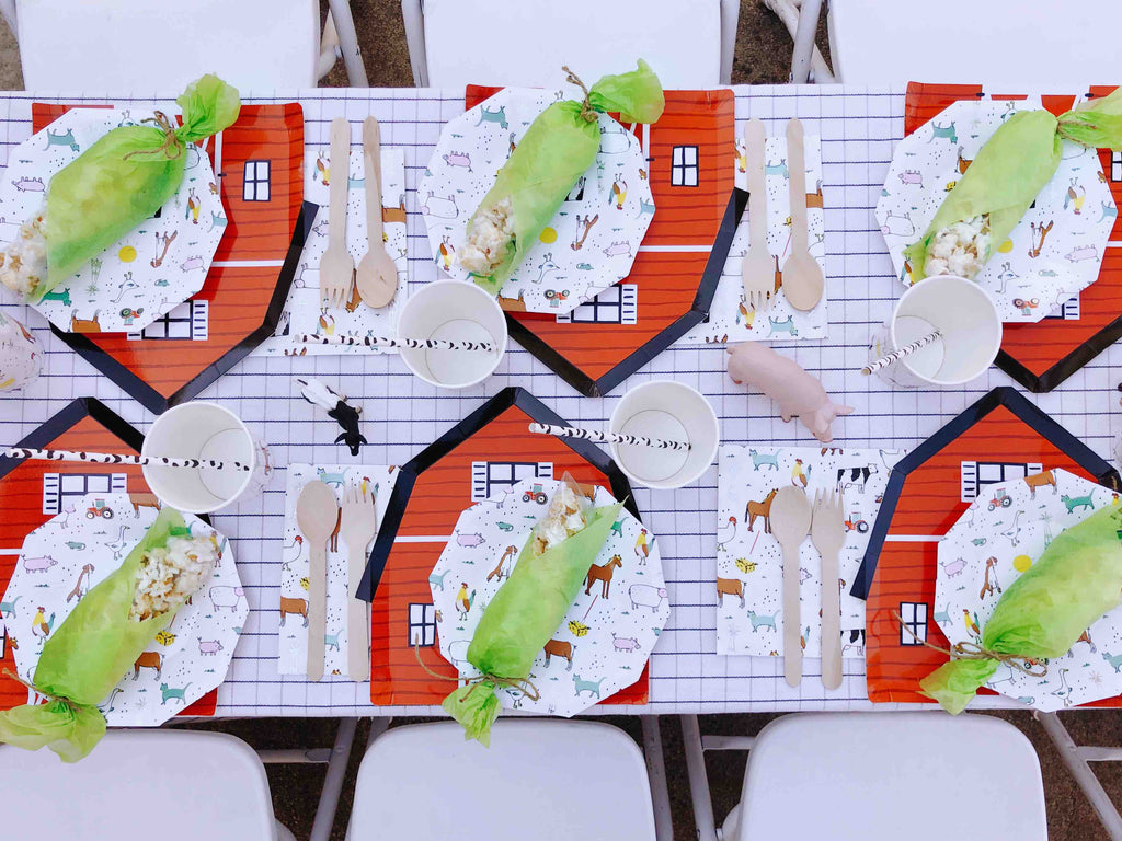 Kids Farm Birthday Party Tablescape Ideas