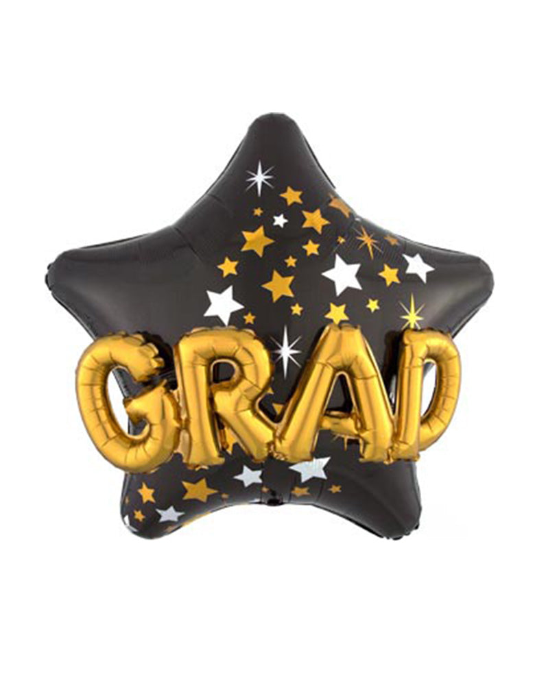 Congrats-Grad-Star-Foil-Mylar-Balloon for a drive-by graduation party