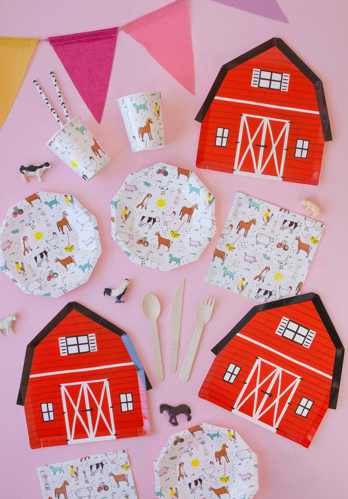 Kids Farm Barnyard Themed Party Supplies for a Fall Party
