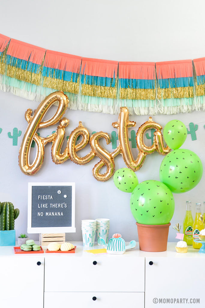 Fiesta Cactus Balloon Decoration DIY Finishing Project
