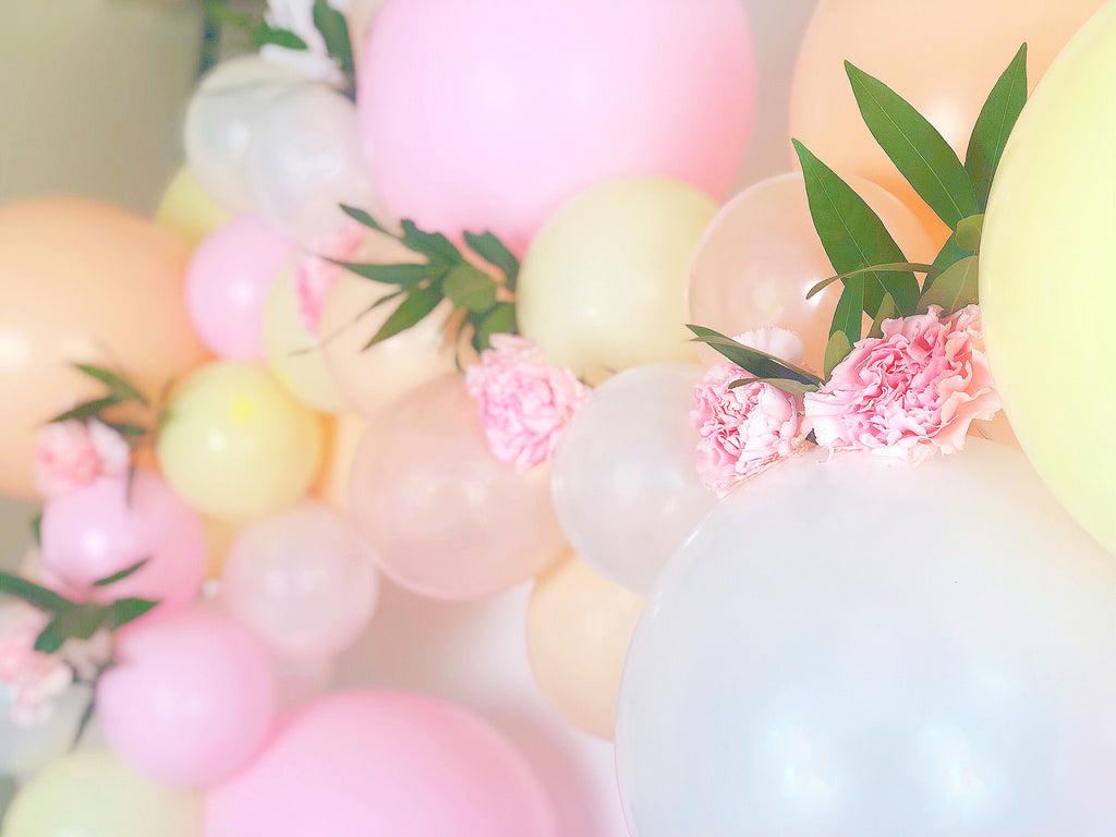 Floral Balloon Cloud Tutorial flowers and greens attached