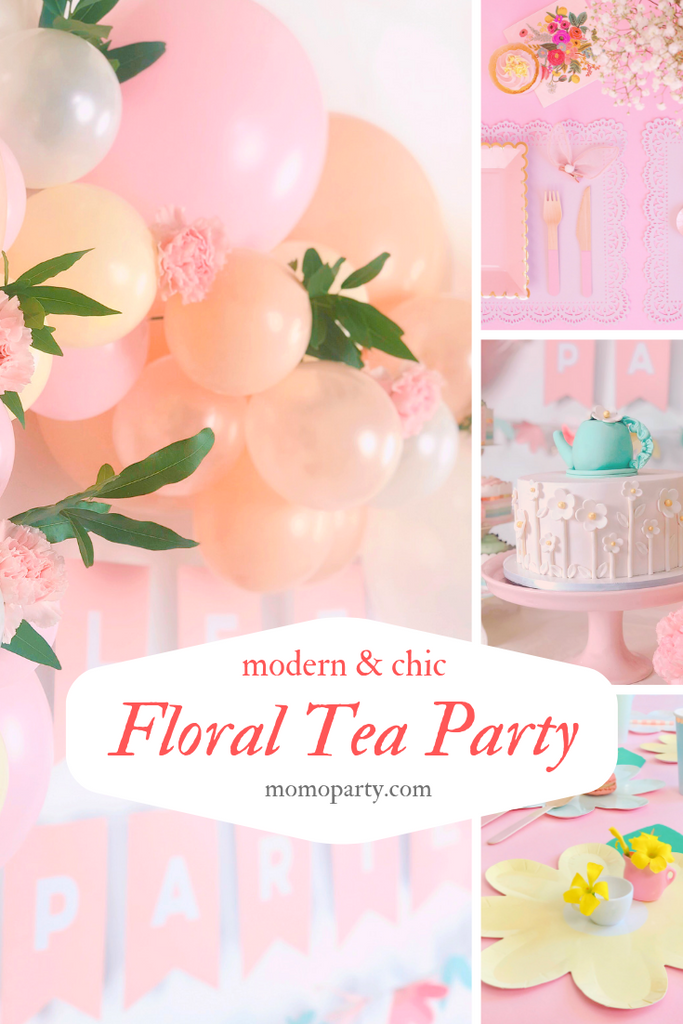 Floral Tea Party First Birthday Party Ideas Pink Pastel Themed