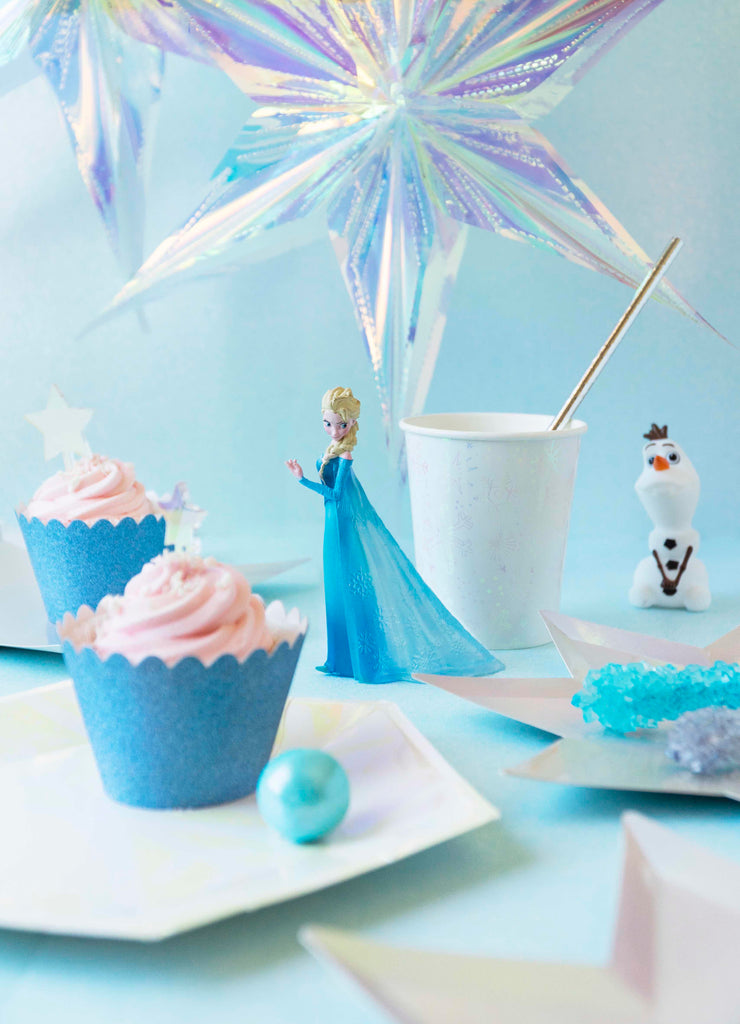 Frozen Themed Party supplies for kids with Elsa featured