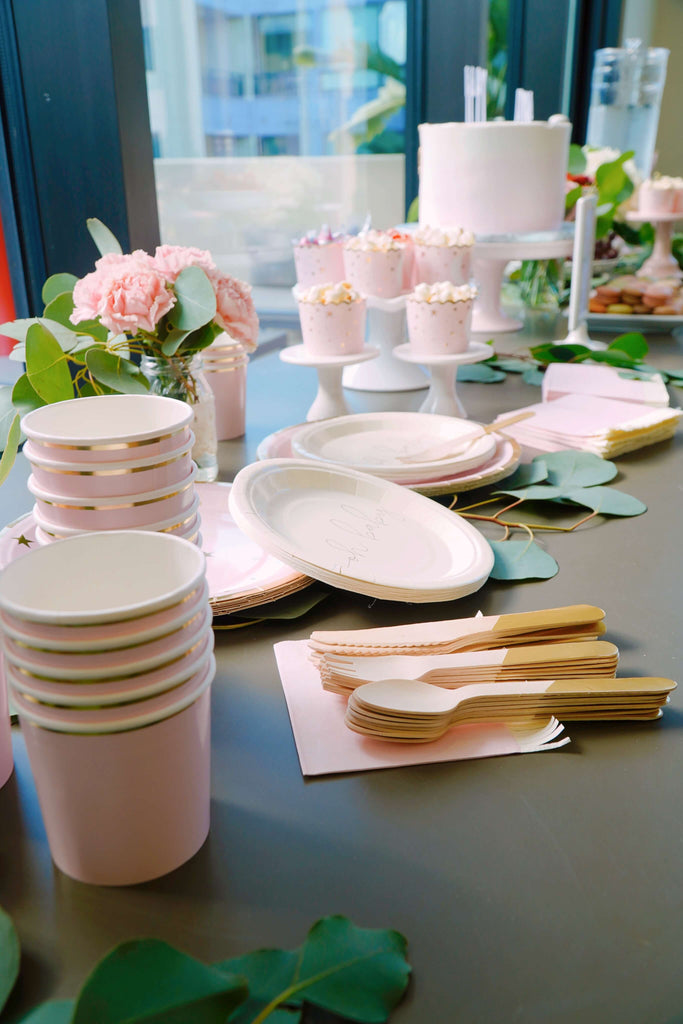 Girl Baby Shower Tableware Ideas