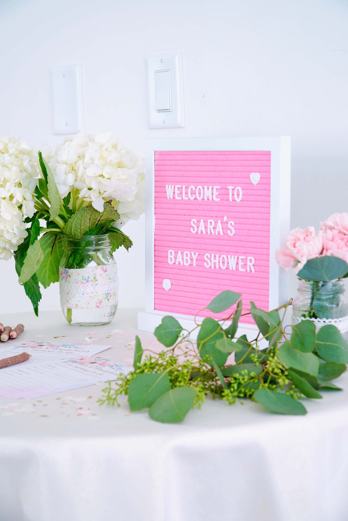 Girl Baby Shower Ideas Welcome Letterboard Sign