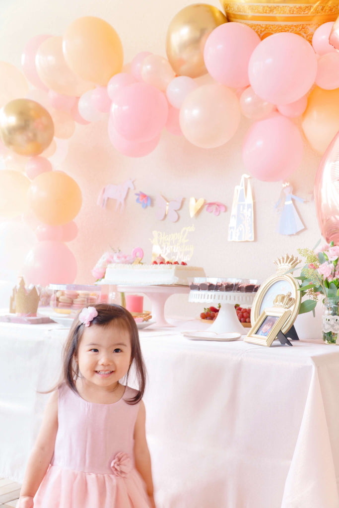 Girls Princess Party Backdrop Decoration Ideas