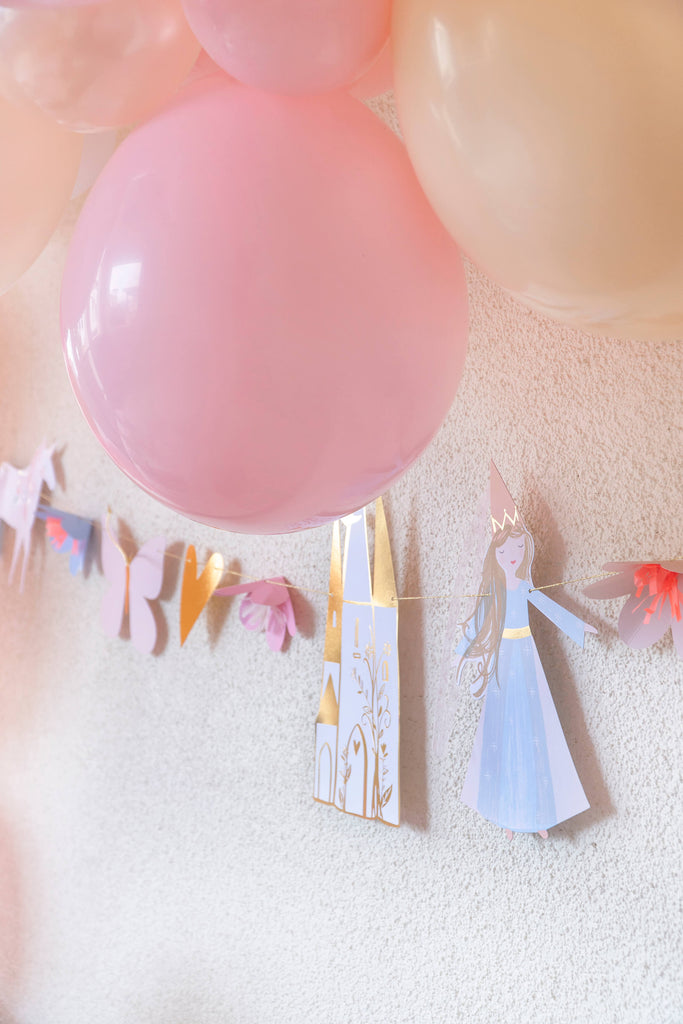 Girls Princess Party Garland and Balloons