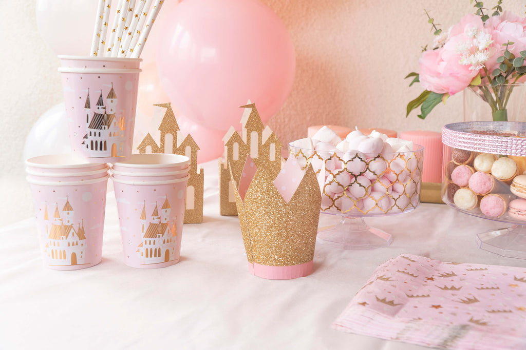 Girls Princess Party Supplies Cups and Crowns