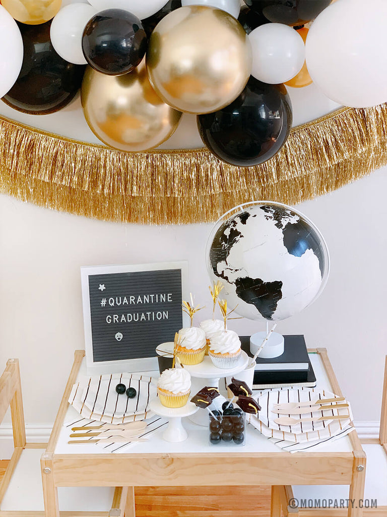 Graduation Party At Home Tablescape by Momo Party