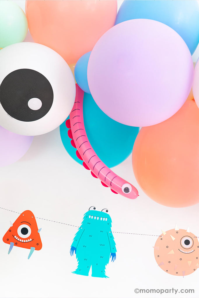 Halloween Little Monsters Birthday Party Balloon Animal Ideas by Momo Party