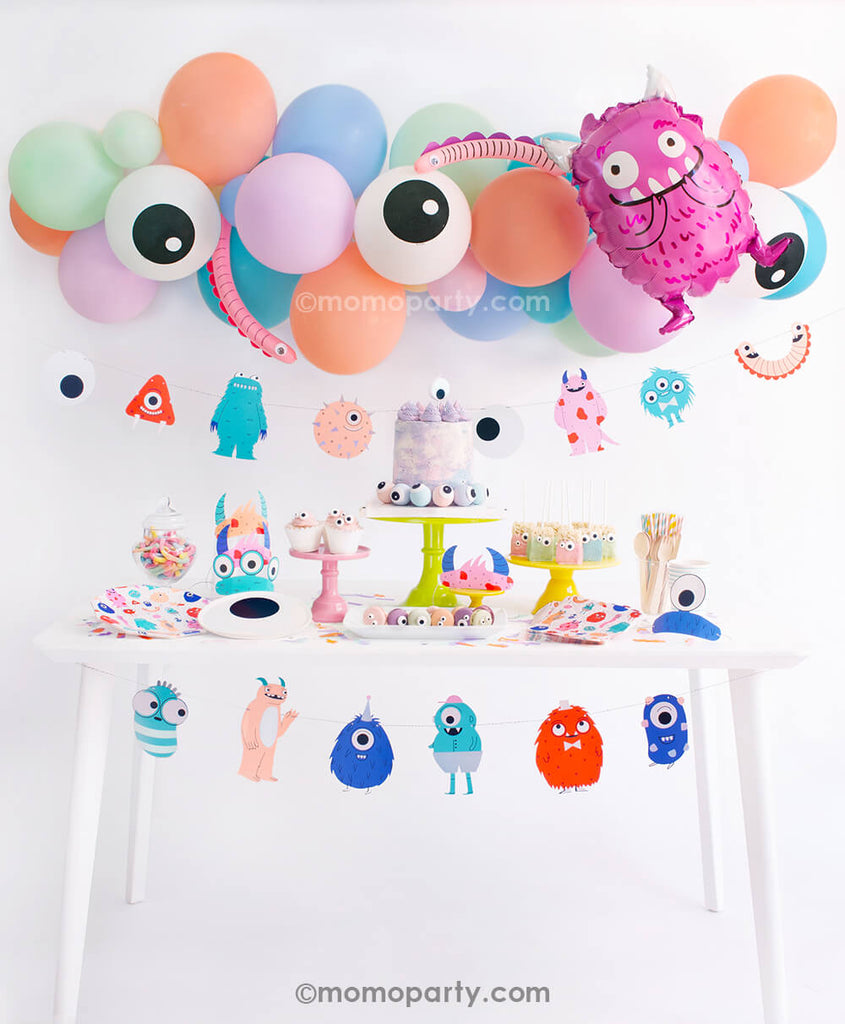 Halloween Little Monsters Birthday Party Box by Momo Party